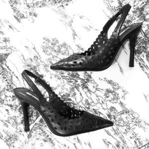 BCBG Black Slingback Heels Size 6. Like New!